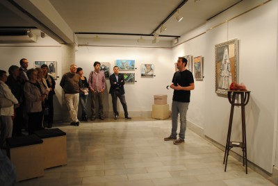 Inauguración de la exposición Sentits del artista alcoverenc Santiago Cordón